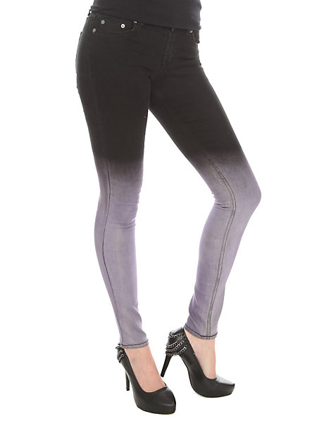John Eshaya Black And Grey Fade Skinny Jeans | Hot Topic