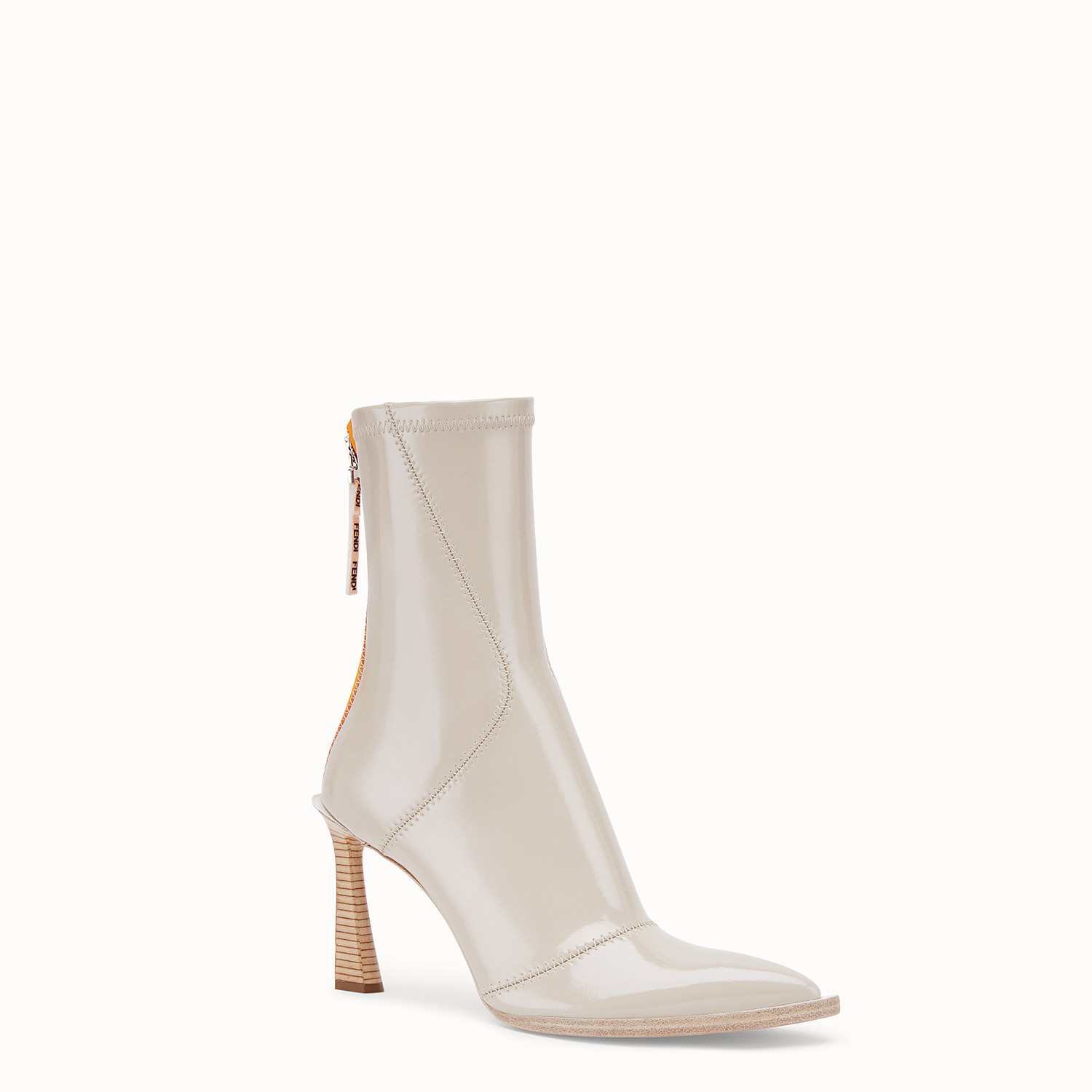 Glossy gray neoprene ankle boots - ANKLE BOOTS | Fendi