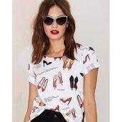 t-shirt,yeah bunny,heels,nastygal,nasty gal fall collection,high heels,red heels,xmas gifts,xmas,best gifts