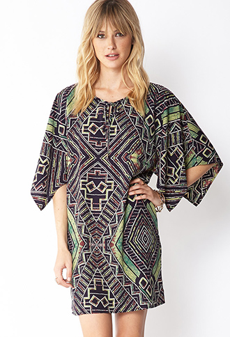 Tribal Inspired Shift Dress | FOREVER21 - 2000065125