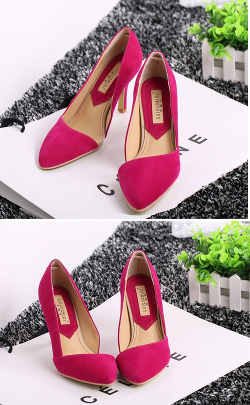 2013 Sexy High-Heels With Side Of The Empty Pointed Shoes Pumps  Used In Nightclub Or Wedding Occasion - DualShine