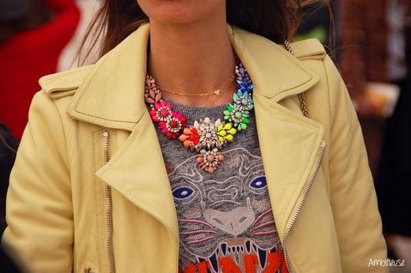 jewels aliexpress shourouk statement necklace neon rhinestones fashion wanted free shipping
