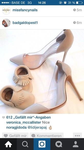 shoes grey nude light classy high heels high-heels shoes heels mother and child