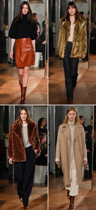 by funda blogger leather skirt fur fashion week 2015