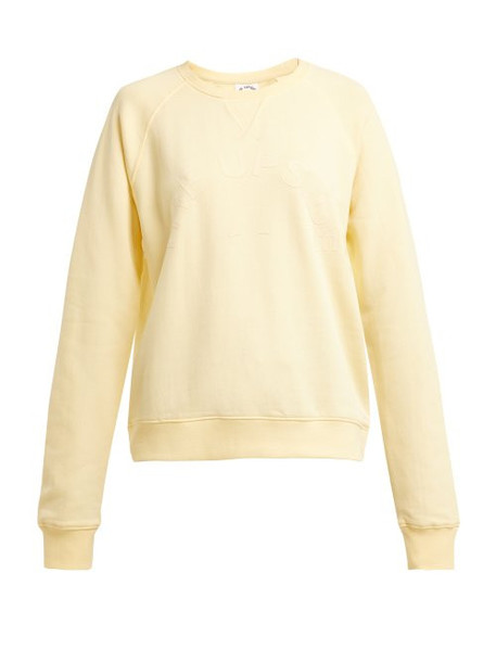 sweatshirt cotton yellow sweater