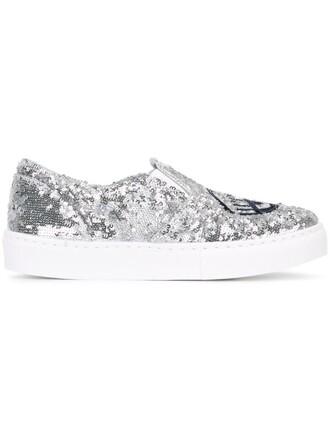 glitter sneakers metallic shoes