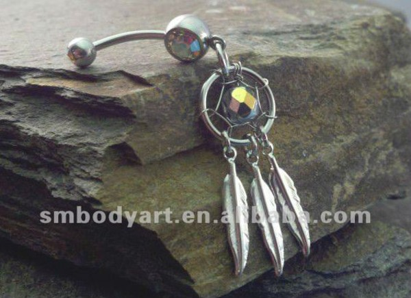 jewels silver stoned belly button ring ring
