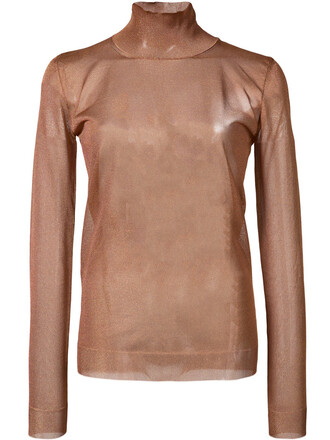 top sheer top long sheer women brown