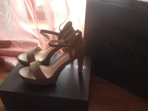 shoes staccato nude sandals