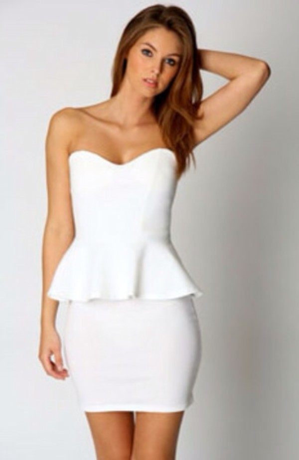 dress white pemplum party short party dresses