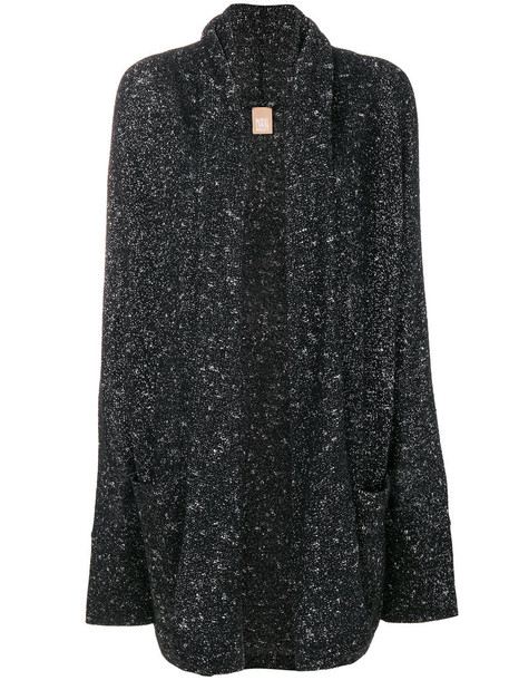 Pascal Millet cardigan cardigan glitter oversized metal women black sweater