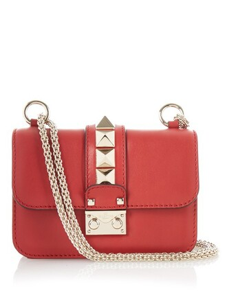 mini bag shoulder bag leather red