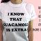 Io so che il guacamole è camicia extra, 100% cotone t-shirt, unisex