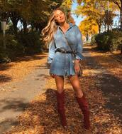 dress,denim,denim shirt,denim dress,jojo fletcher,celebrity,fall outfits,instagram