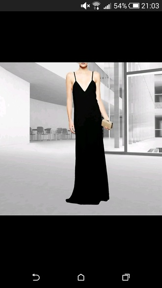 dress black maxi dress hot dress spagetti straps spagetti staps dresses black colour