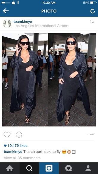kim kardashian kardashians keeping up with the kardashians trench coat winter coat autumn/winter