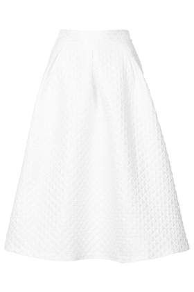 Diamond Jacquard Midi Skirt - Skirts  - Clothing  - Topshop