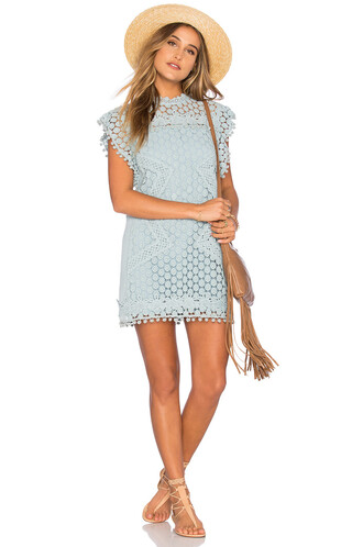 tunic lace blue top