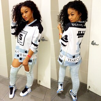 t-shirt india westbrooks westbrooks jeans swag shirt jordans jordan 9 blue baby blue black white stars stars and stripes trill blouse jumper shoes wolfgang blue skinny jeans blue wash ripped skinny jeans white like her top white t-shirt white shirt jersey baddies black girls killin it urban pants long sleeves one grey jersey tee shirt sweater