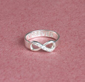 jewels,eternity promise ring,lover gift,girlfriend gift,gift ideas,hand stamped,band,band ring,name ring,infinity ring,diamond ring,stones,infinity symbol ring,engraved ring,personalized ring,rhinestones,crystal