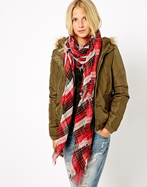 New Look | New Look Tartan Scarf at ASOS