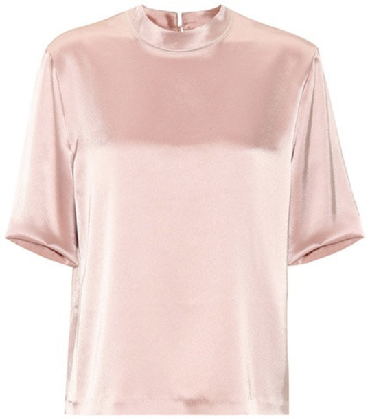 Nanushka Kaden satin top in pink
