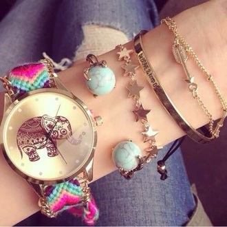 jewels stars bracelets watch elephant gold assorted bangles gold bangles chain