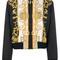 Versace - medusa printed bomber jacket - women - silk/acrylic/polyamide/viscose - 46, black, silk/acrylic/polyamide/viscose