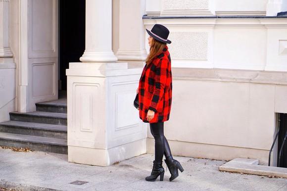 flannel shirt blogger a piece of anna hat