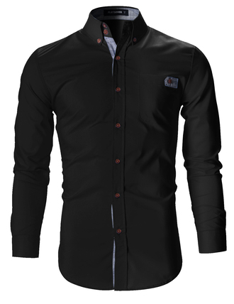 shirt black shirt casual outfit outfit idea menswear