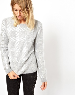 ASOS | ASOS Jumper In Angora With Foil Print at ASOS
