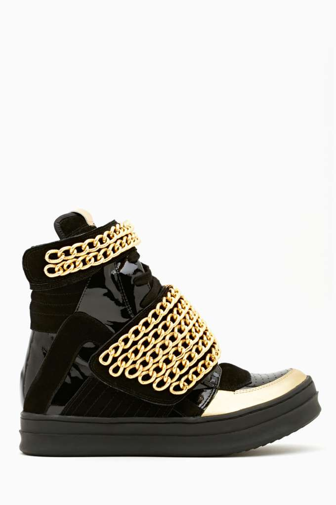 Jeffrey Campbell Bones Chained Sneaker  in  Shoes at Nasty Gal