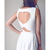 Heart Cut Out Pleated Dress in White - Retro, Indie and Unique Fashion