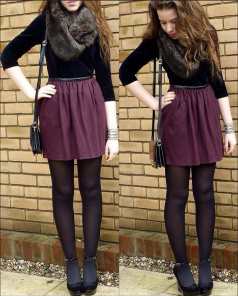 red skirt bordeaux skaterskirt