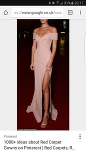 dress,bella hadid,off the shoulder,off the shoulder dress,slit dress,evening dress,long evening dress,prom dress,long prom dress,long dress,maxi dress,party dress,classy dress,elegant dress,cocktail dress,celebrity style,celebrity,celebstyle for less,new year's eve,wedding clothes,wedding guest,red carpet dress