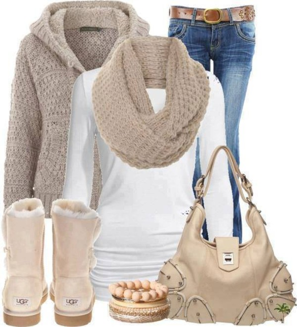 jacket boots scarf winter outfits winter jacket beige nude light brown bag winter sweater shoes sweater blouse ugg boots bracelets purse jeans infinity scarf winter outfits coat top beige bag handbag handbag purse shoulder bag brown bag brand style stylish fashionista buy it buy me buy me food cardigan shorts dress pants shirt
