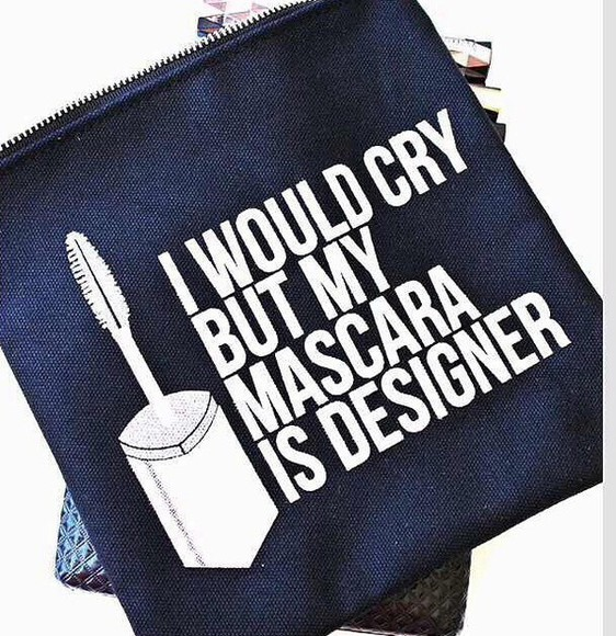 bag designer mascara quote on it make-up