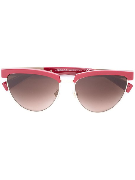 VERSACE metal cut-out women sunglasses red