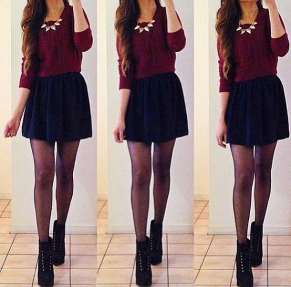 skirt clothes sweater