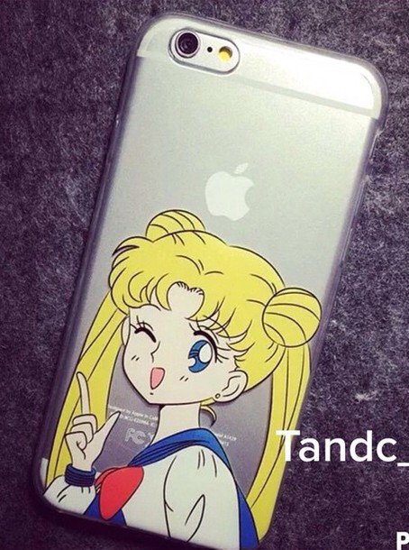 phone cover sailor moon cartoon