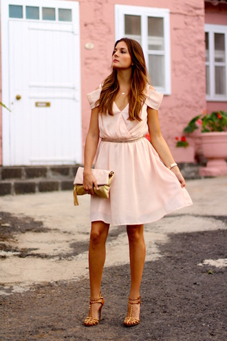 marilyn's closet blog blogger pink dress