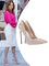 Jennifer lopez heels cream patent leather pointy toe metal stiletto wedding 120 mm heels pumps