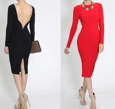 Open back midi dress · trendyish · online store powered by storenvy