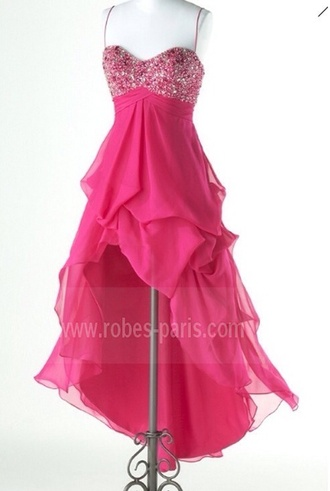 dress bustier courte jupe mi-longue paillettes soirée bustier dress pink dress glittery dress
