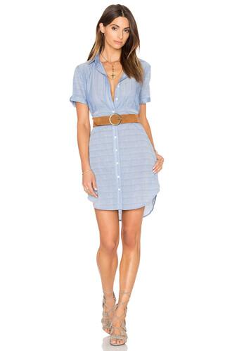 dress shirt dress short blue