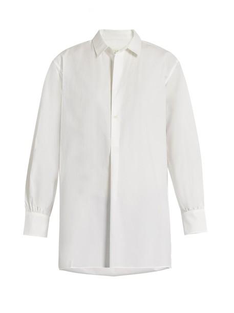Nili Lotan shirt cotton white top