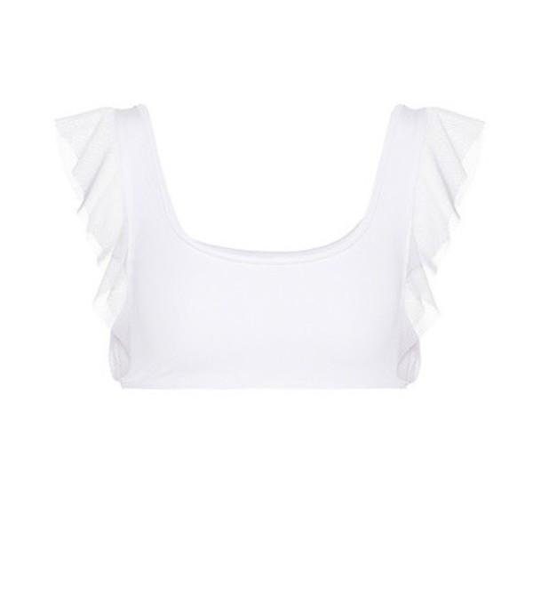 Beth Richards Flutter bikini top in white