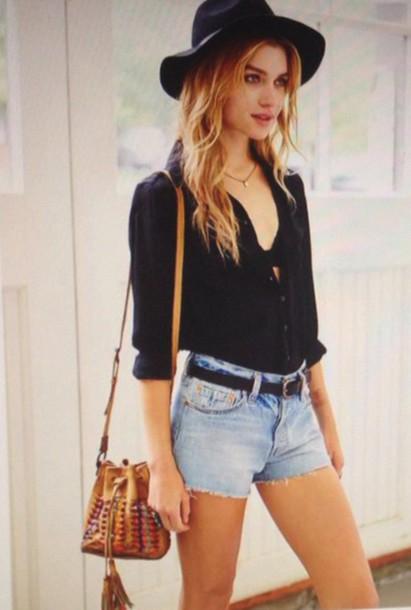 shorts urban outfitters zara topshop style fashion clothes denim shorts