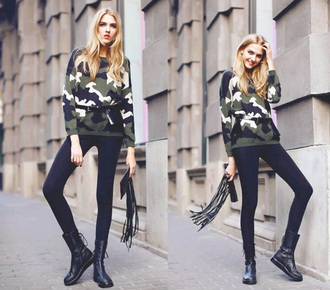 camouflage army green winter outfits popular fall outfits