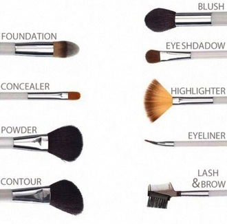 home accessory make-up makeup brushes natural makeup look